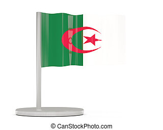 Pin with flag of algeria
