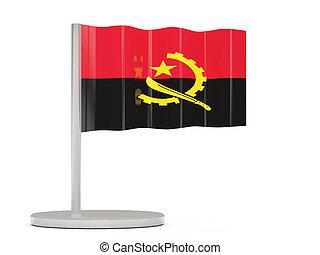 Pin with flag of angola