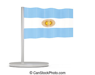 Pin with flag of argentina