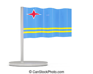 Pin with flag of aruba