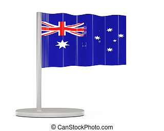 Pin with flag of australia