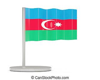 Pin with flag of azerbaijan