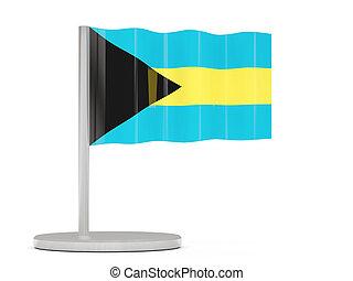 Pin with flag of bahamas