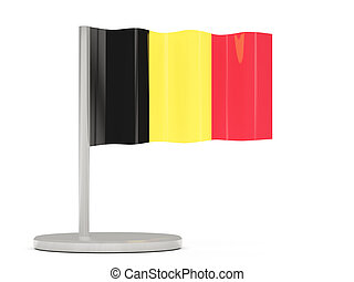 Pin with flag of belgium