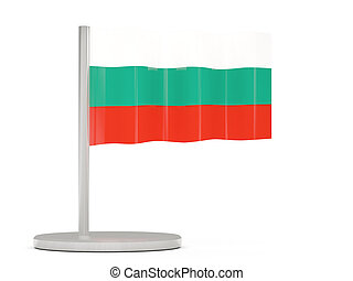 Pin with flag of bulgaria