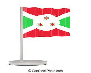 Pin with flag of burundi