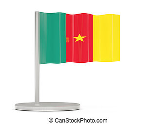 Pin with flag of cameroon