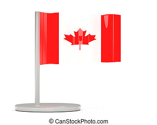 Pin with flag of canada