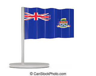 Pin with flag of cayman islands