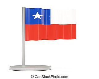 Pin with flag of chile