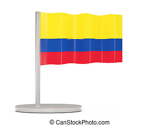 Pin with flag of colombia
