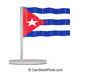 Pin with flag of cuba