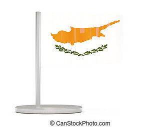Pin with flag of cyprus