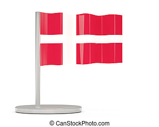 Pin with flag of denmark