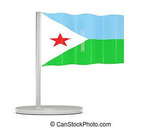 Pin with flag of djibouti