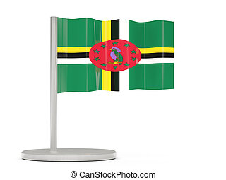 Pin with flag of dominica