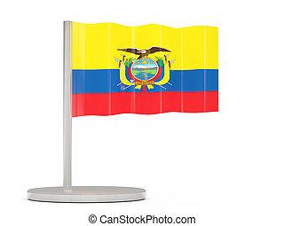 Pin with flag of ecuador