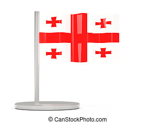 Pin with flag of georgia