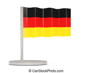 Pin with flag of germany
