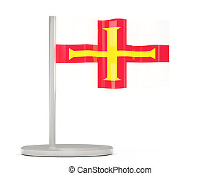 Pin with flag of guernsey