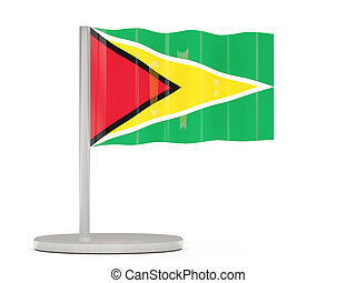 Pin with flag of guyana