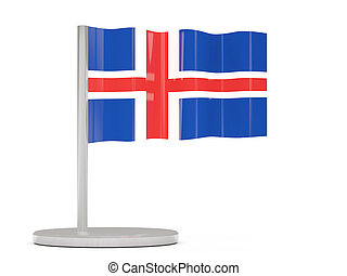 Pin with flag of iceland