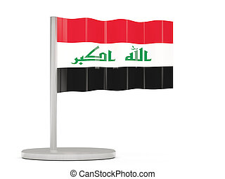 Pin with flag of iraq