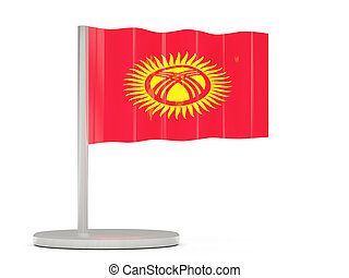 Pin with flag of kyrgyzstan