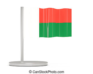 Pin with flag of madagascar