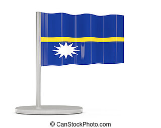 Pin with flag of nauru