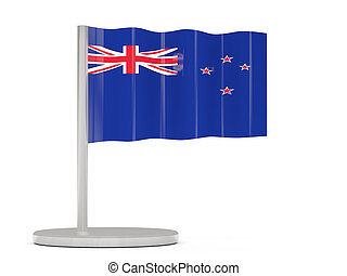 Pin with flag of new zealand