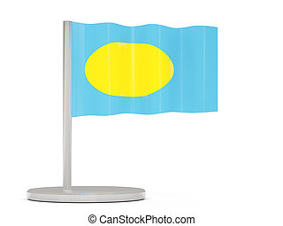 Pin with flag of palau