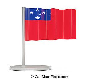 Pin with flag of samoa