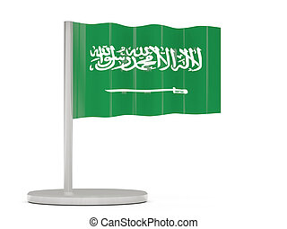 Pin with flag of saudi arabia