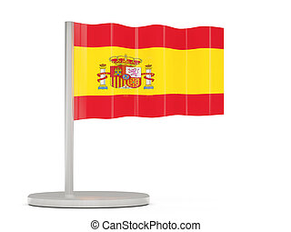 Pin with flag of spain