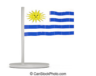 Pin with flag of uruguay