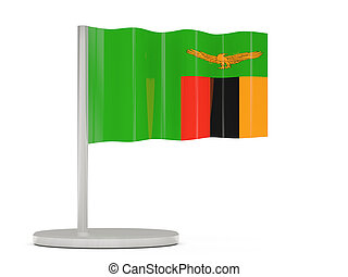 Pin with flag of zambia