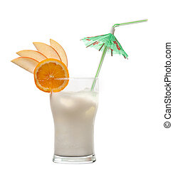 pina, colada, -, cocktail