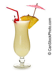 Pina colada cocktail - Pina colada drink in hurricane...
