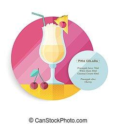Pina colada drink recipe menu for cocktail party - Pina...