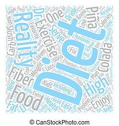 Pina Colada Slush text background wordcloud concept
