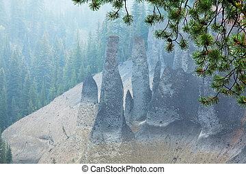 Pinaccle - Pinnacles volcanic formations at Crater Lake...