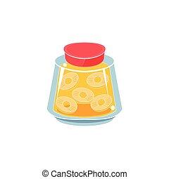 Pinapple Jam  In Transparent Jar