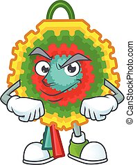 Pinata mascot cartoon style with Smirking face