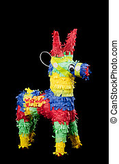 Pinata on a black background
