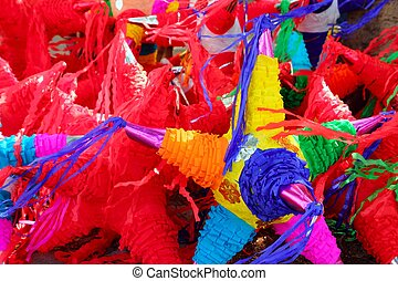 pinatas star shape mexican traditional celebration - pinatas...