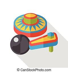 pinball, boldspil, lejlighed, ikon