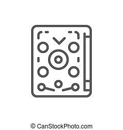 Pinball, playing machine, game line icon.