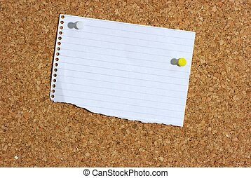 Pinboard - A piece of paper pinned to a board. You can add...