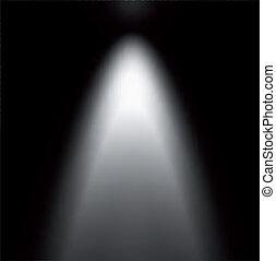 pinceau lumineux, depuis, projector., vecteur, illustration